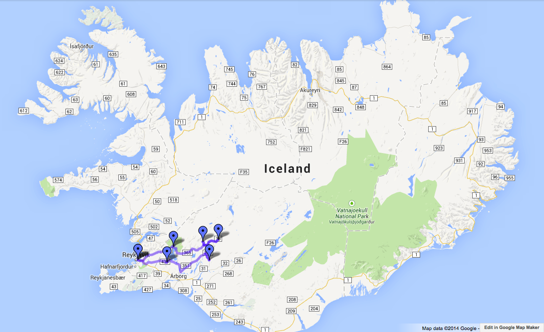 How to See Iceland Without Organized Tours – Iceland Tourist Attractions Map