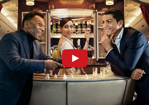 "New Emirates A380 Promo Video: ""All Time Greats"""